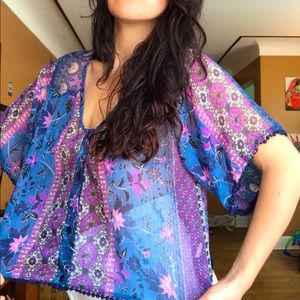 ❤Like new band of gypsies S summer top